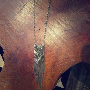 Chevron Fringe Brass Tone necklace from Modcloth
